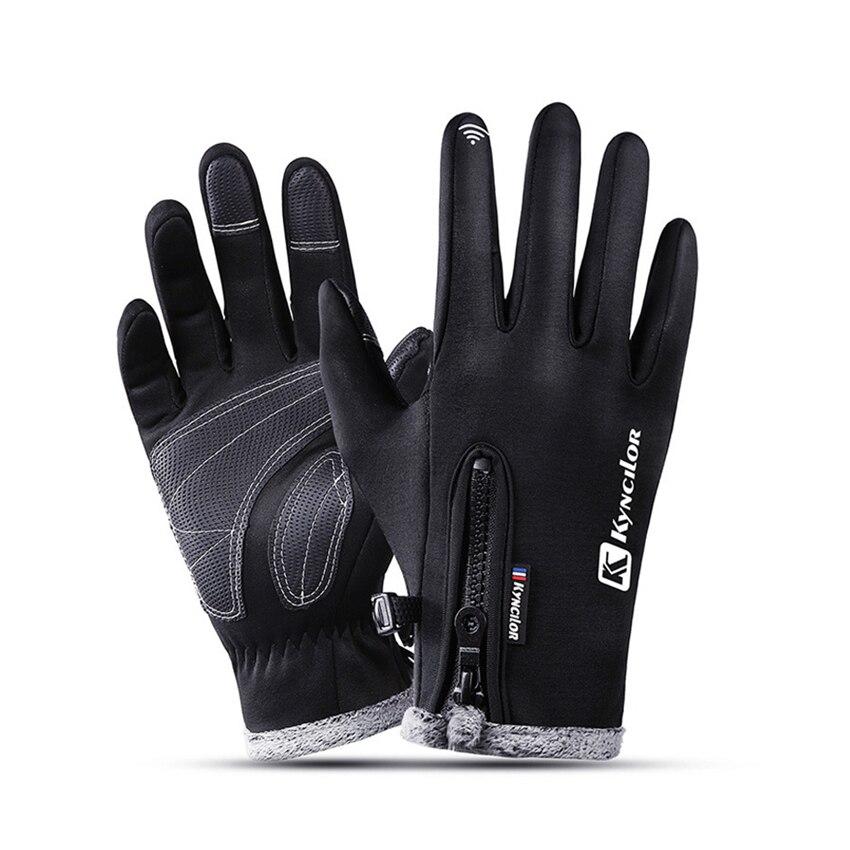 Guantes cálidos impermeables de lana para esquí para hombre y mujer, guantes de invierno para exteriores a prueba de viento, guantes antideslizantes para ciclismo con pantalla táctil, guantes de regalo antideslizantes