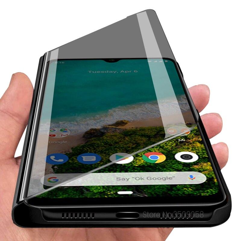 mirror flip cover case for global version xiaomi mi a3 a 3 mia3 xiomi xaomi xiami mia 3 mi 3a xiaomia3 6.088'' phone accessories