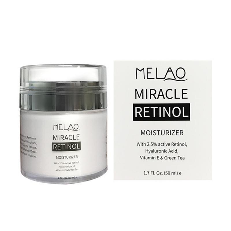 Crema hidratante MELAO 2.5% Retinol, ácido hialurónico antienvejecimiento que reduce las arrugas finas, crema Retinol diurna y nocturna de 50ml