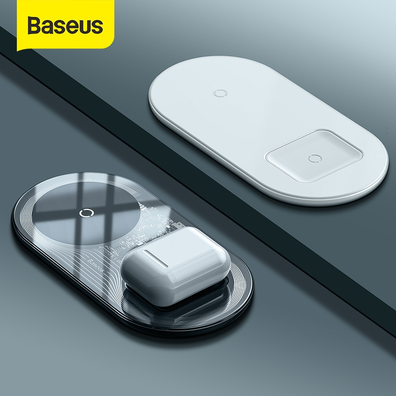 Baseus Visible Wireless Charger For iPhone 12 11 Wireless Charge Pad For iPhone Airpods Fast Chargin