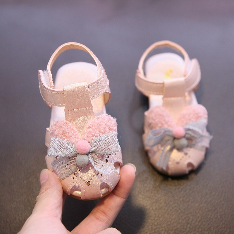 Girls' Sandals 2021 Summer New Sweet Princess Shoes Baby Fashion Breathable Hollow Toddler Shoes Sof