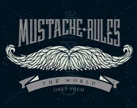 mustache rules large metal tin sign poster retro style home decor coffee bar decoration