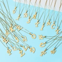 zmzy a z set 26pcslot mixed letter necklace pendant alphabet stainless steel choker initial necklaces women girl jewelry chain