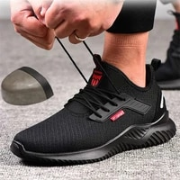 summer steel toe work shoes for men puncture proof safety shoes man light industrial casual shoes male