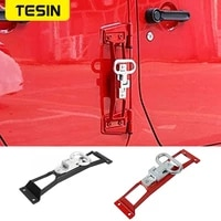 tesin metal hinge foot step pedals plate exterior folding foot rest pedal pegs for jeep wrangler jk 2007 2017 car accessories