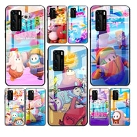tempered glass cover cute game fall for huawei y6 y7 y9 y5p y6p y8s y8p y9a p smart z 2019 2020 2021 phone case