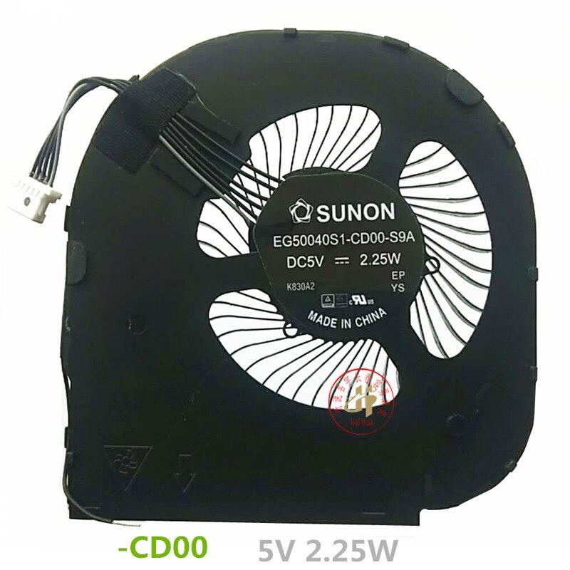 Nuevo ventilador enfriador de CPU para Lenovo Thinkpad T480S A485 01HW696 EG50040S1-CD00-S9A/ND75C21-17E37 01HW697 radiador