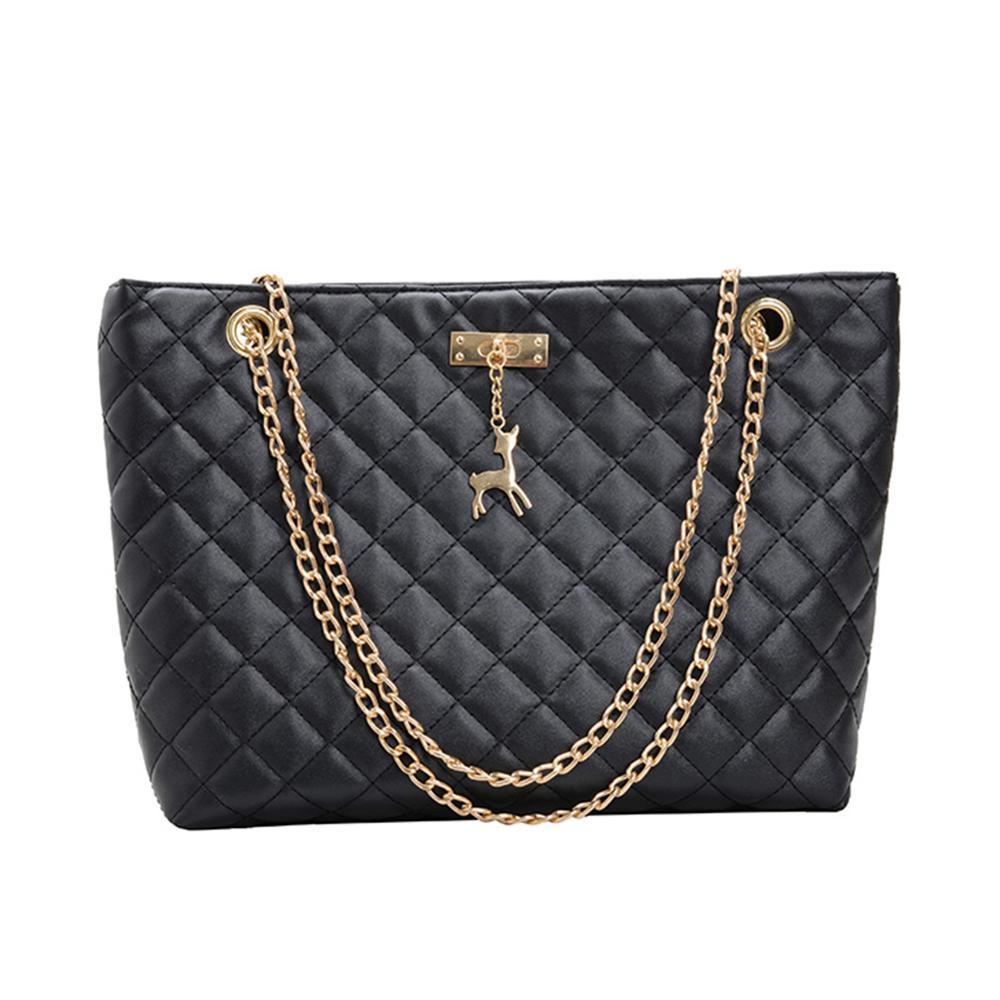 Mulheres bolsa de couro 2020 designer marca luxo grande capacidade de rhombic corrente couro senhoras ombro crossbody bolsa feminina