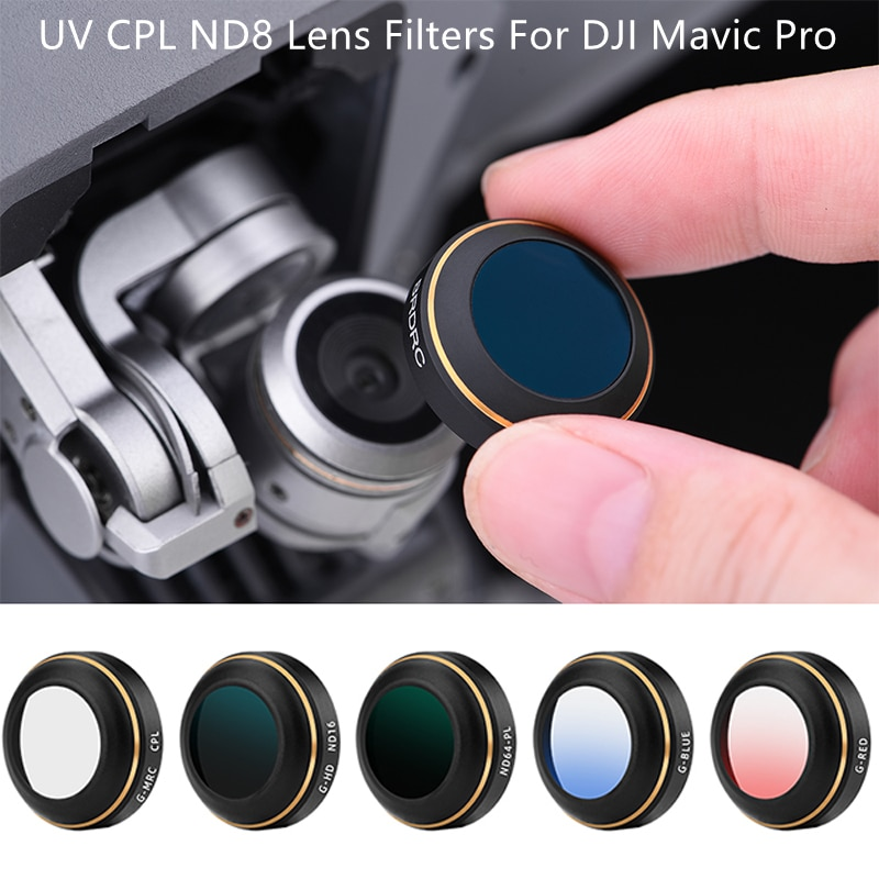 UV CPL ND8 Lens Filters For DJI Mavic Pro Drone Camera Neutral Density Filter Set For DJI Mavic Pro Accessories ND 4 8 16 32 nisi 58mm nd1000 ultra thin neutral density filter 10 stop for digital slr camera nd 1000 58mm slim lens filters