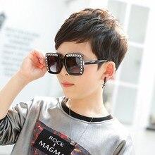 Fashion Vintage Square Frame Girls Sunglasses Classic Anti-blue Light Plastic Boys Sunglasses Kids O