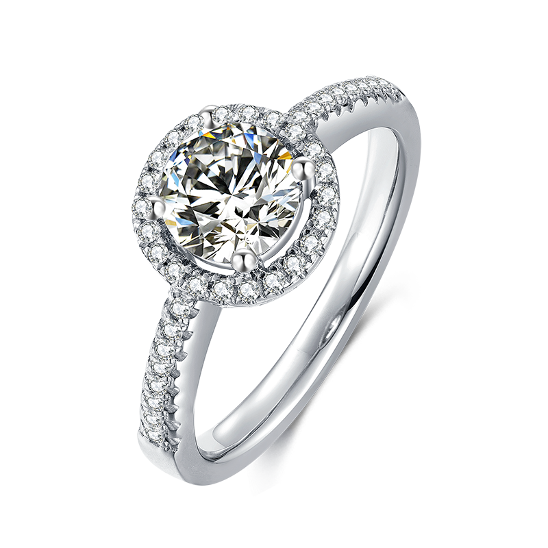 Pirmiana Luxury Jewelry 1.0-3.0ct D Color VVS Created Moissanite Diamond Ring Women Wedding Engagement Rings