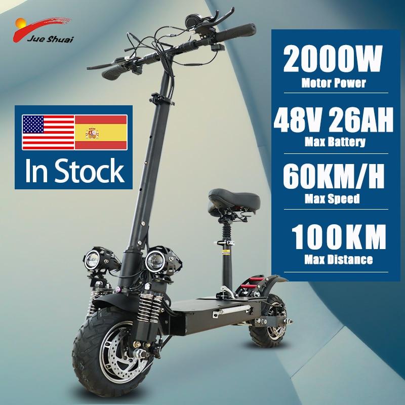 Jueshuai-patinete Eléctrico para adultos, Scooter de doble Motor de 2600W, con neumático...
