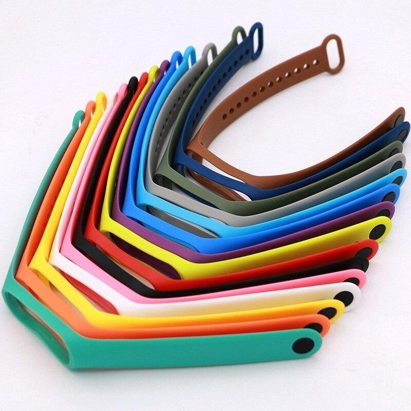 Color correas para mi banda 4 3 pulseira mi banda 2 Correa de reemplazo de silicona de muñequeras para xiaomi 2 pulsera inteligente