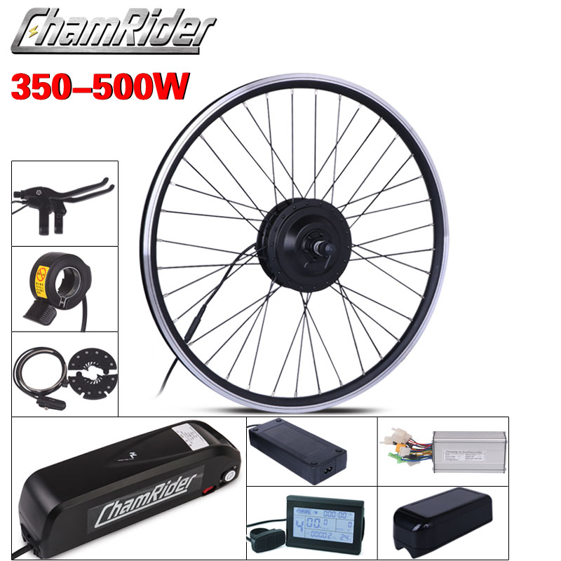 MXUS ebike Kit di conversione della bici Elettrica kit di Hailong 350W Batteria 500W 36V 20.4AH 48V 17AH 52V 17AH 15F 15R XF Motore display LCD