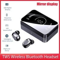 tws bluetooth 5 0 earphones set 3500mah charging box touch control bluetooth noise cancelling sports headsets earbuds