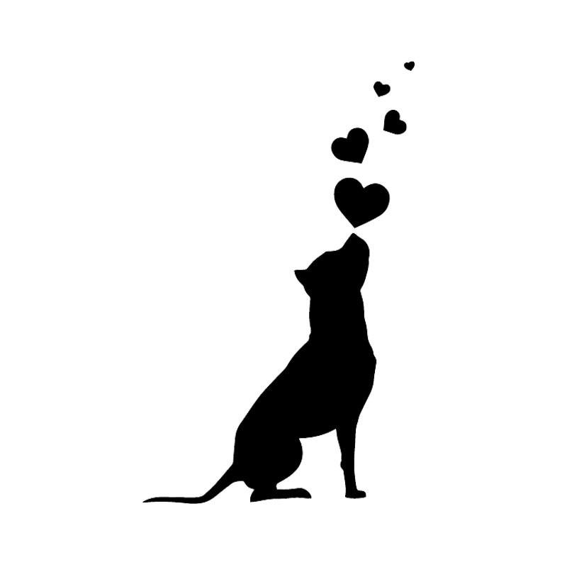 Автомобильные наклейки, Декор, мотоциклетные Переводные картинки, Переводные картинки, собака, сердца, домашние животные, декоративные акс...