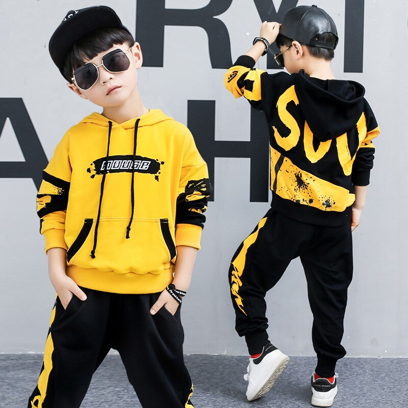 2021 nova primavera e outono menino roupas esportivas terno casual camisola conjuntos terno meninos hoodies crianças moletom e calças ternos