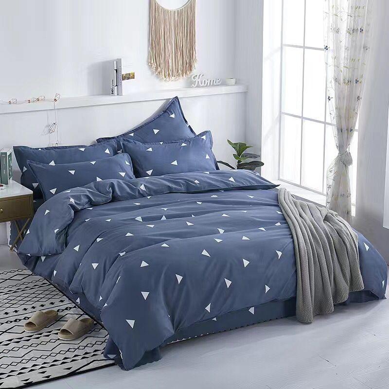 4 шт./компл., теплые комплекты постельного белья с рисунками из мультфильмов, набор постельного белья с геометрическим узором, 4 размера, серы...