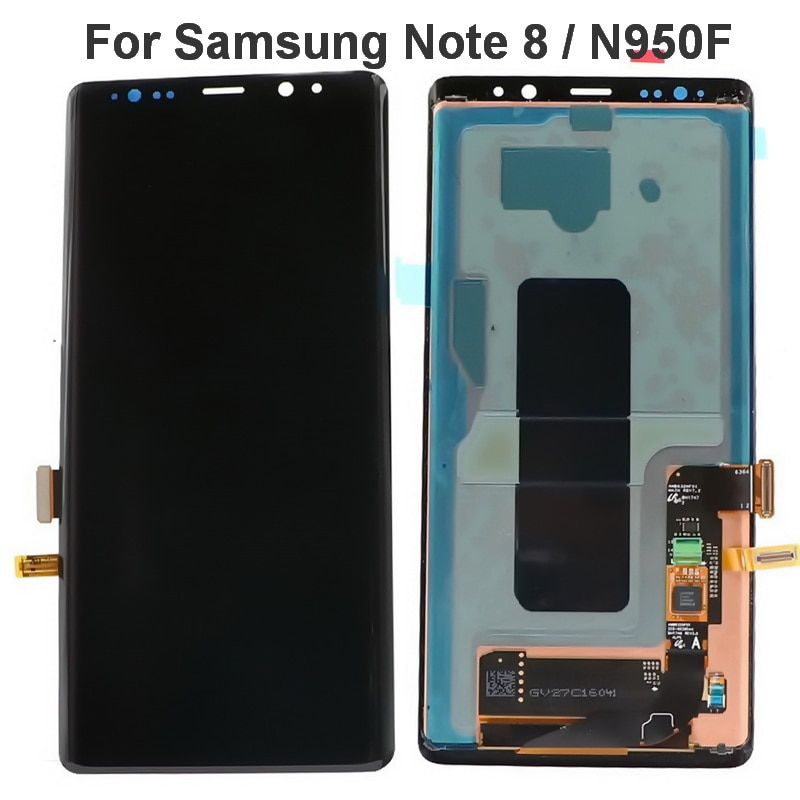 aliexpress.com - 100% Original 6.3″ Super Amoled Display For SAMSUNG Galaxy Note 8 LCD N950 N950F Display Touch Screen Glass Digital Replacement