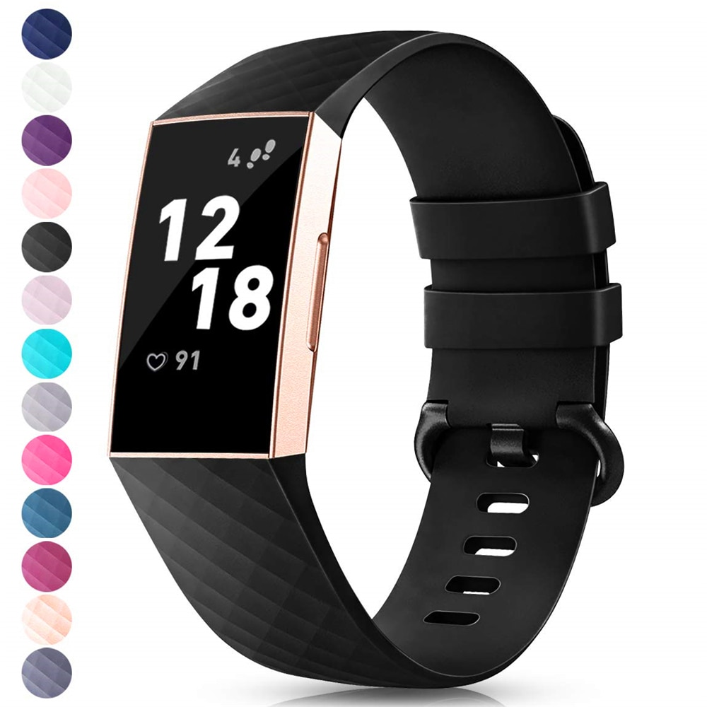 Band For Fitbit Charge 3 Strap Silicone Accessories Wristband For Fitbit Charge 4 Replacement Strap