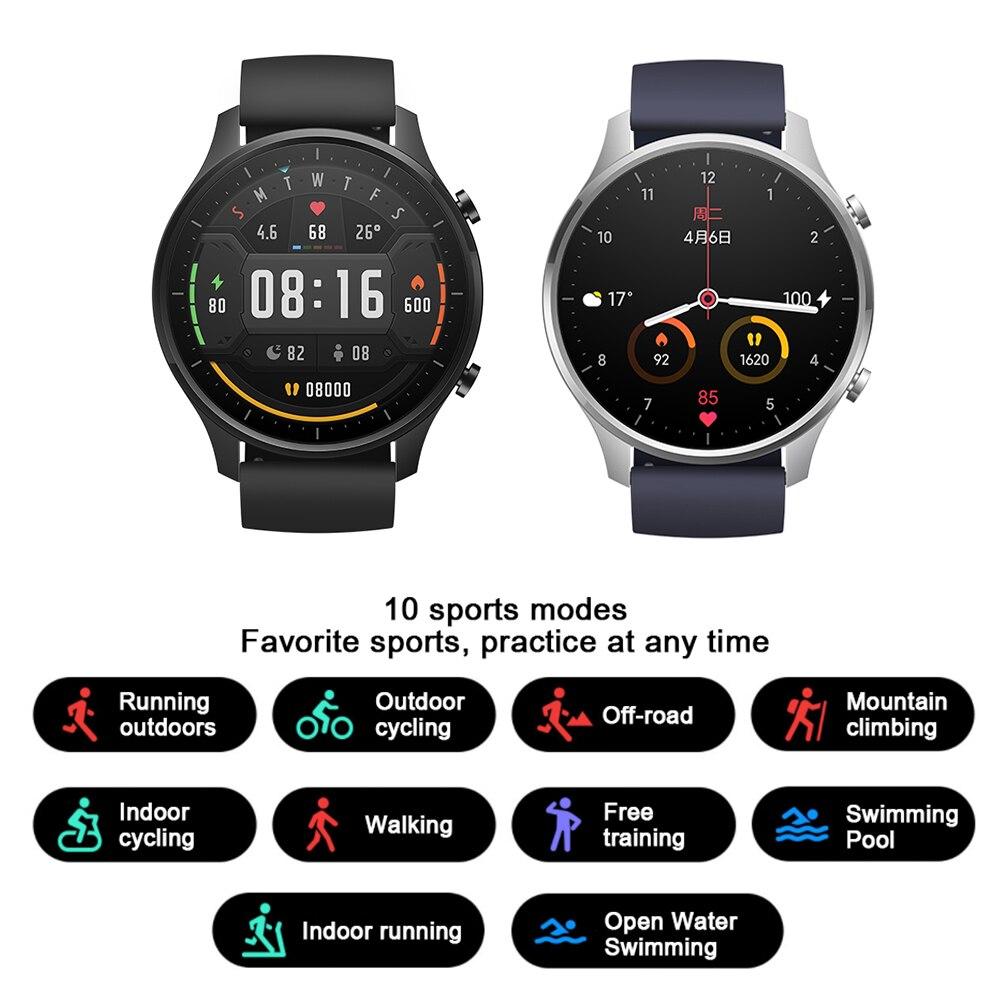ساعة ذكية شاومي جديدة 95% ملونة NFC 1.39 ''AMOLED جهاز تتبع اللياقة البدنية 5ATM مقاوم للماء الرياضة رصد معدل ضربات القلب ساعة Mi اللون