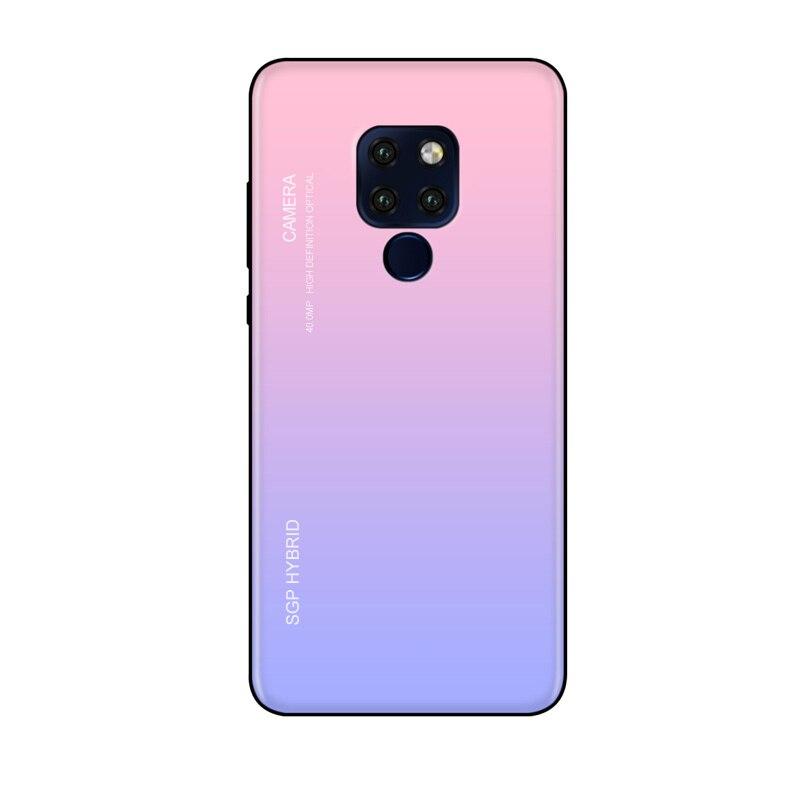 Funda de gradiente de vidrio templado para Huawei Mate10 20 30 Pro Lite, Funda de teléfono para Huawei P10 P20 P30 Plus Lite, carcasa trasera protectora, Funda