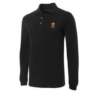 Mens Polo for USMC Amry Embroidery Long Sleeve Polo Shirts Embroidered Shirts