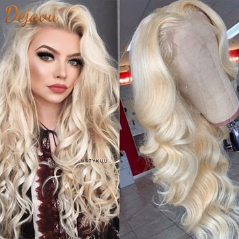 613 Blonde Body Wave 13x4 Lace Front Wigs Brazilian Lace Frontal Human Hair Wigs Prepluck With Baby Hair Remy For Womens Wigs