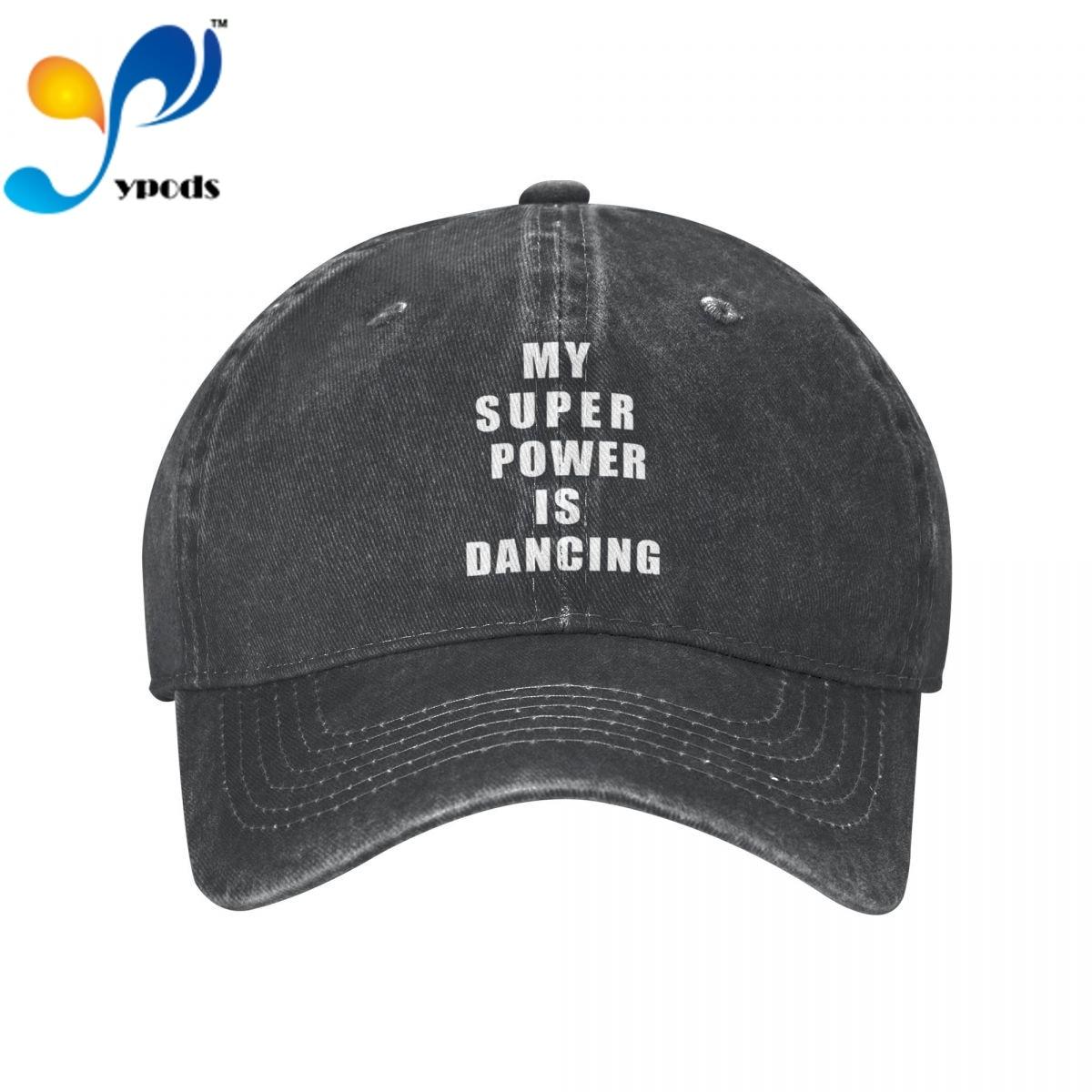 Мой супермощный слоган-танцующие женские и мужские хлопковые бейсболки, повседневные кепки унисекс, уличные бейсболки-тракеры, головные уб...