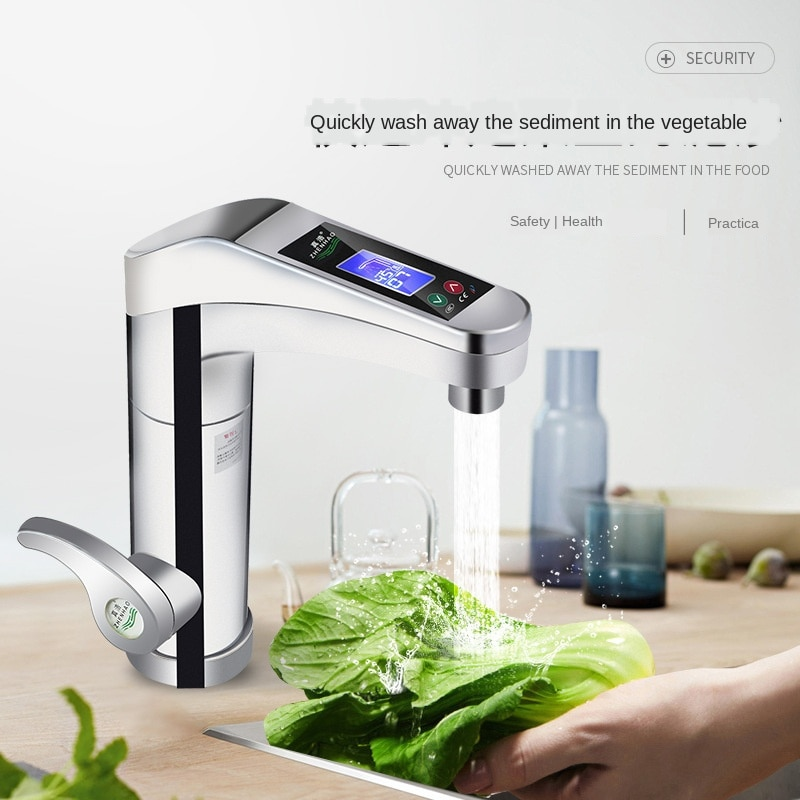 Convenient installation, instant heating digital display electric faucet, safety protection, hot and cold water heater, seven ge