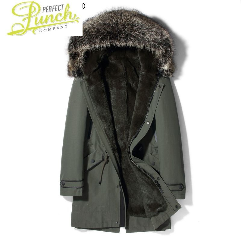 سترة الشتاء الرجال سترة معطف الفرو الحقيقي الرجال الأرنب الطبيعي الفراء بطانة السترات الفاخرة سترات Hombre 91P92008 KJ2437