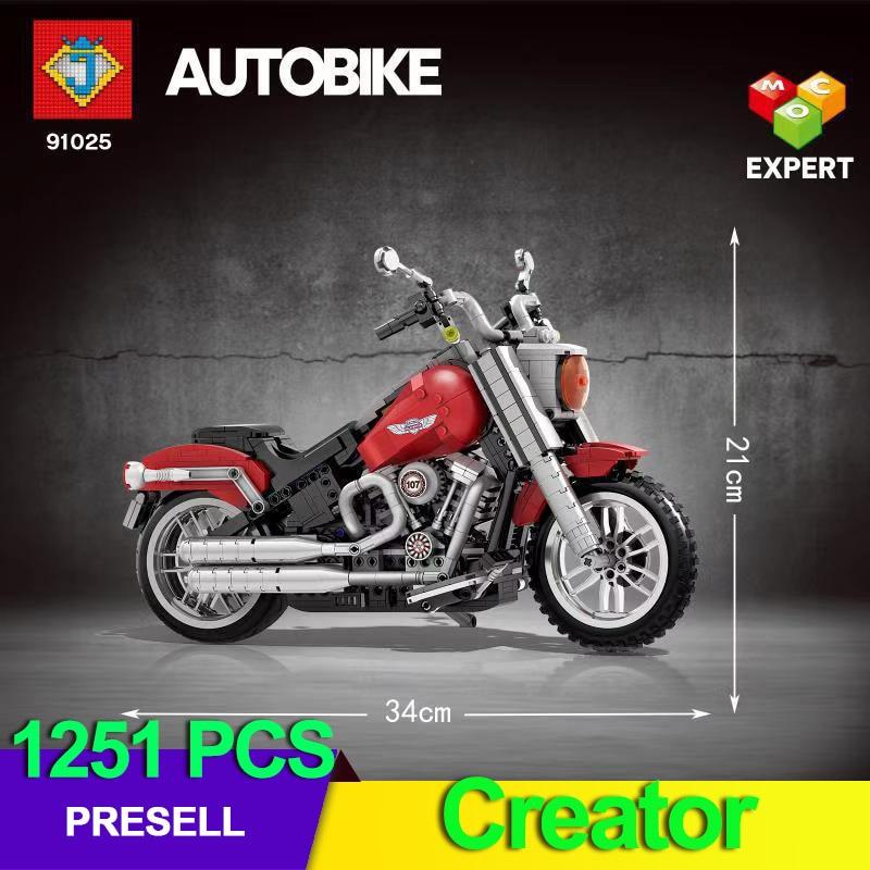 Creador de expertos Compatible clásico 10269 Harley vehículo gordo niño motocicleta juegos técnica Moto modelo juguetes para niños regalos