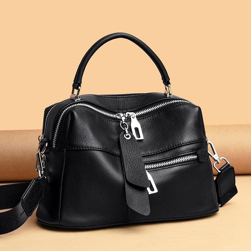 حقيبة كتف نسائية من الجلد الطبيعي ، حقيبة كتف ذات نوعية جيدة ، صغيرة ، عصرية ، 2021