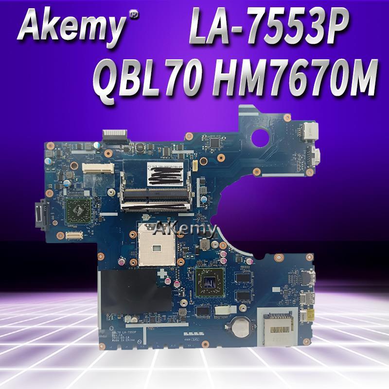 K73TA اللوحة QBL70 HM7670M ل For Asus K73T X73T LA-7553P K73TK R73T اللوحة المحمول K73TA اللوحة K73TA اللوحة