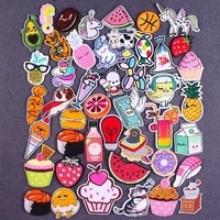cute food embroidery patch sewing cartoon animal patch iron on kid clothing applique patches for clothing thermoadhesive patches