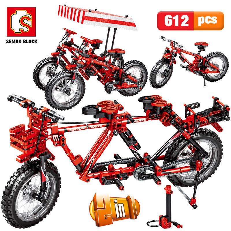Creador de ciudades, bicicleta mecánica, bicicleta de montaña, la técnica de bloques de construcción, bicicletas en tándem concertables, ladrillos, juguetes para niños