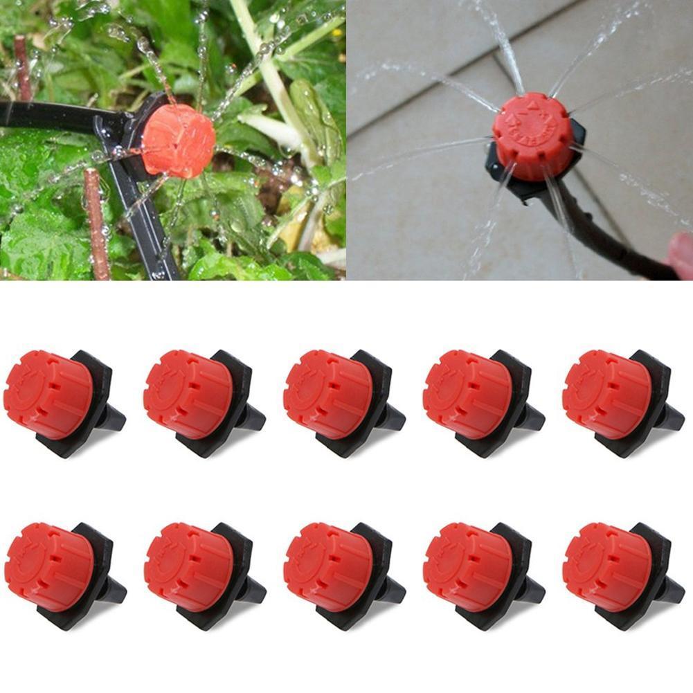 10/30/50pcs/lot Adjustable Irrigation Sprinkler 4/7mm Garden Irrigation Nozzle Micro Drip Veranda Backyard Garden Watering Spray
