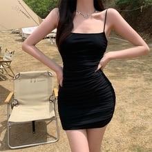 Cost-Effective Mesh Sexy Tube Top Strappy Summer Black Bodycon Casual Dress Women Vestido Dresses Cl