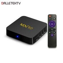 MX10 Smart TV Box RK3328 Quad Core 4GB RAM 64GB ROM 2.4G WIFI 100M 4K TV BOX Android 9.0 USB 3.0 H.265 décodeur intelligent