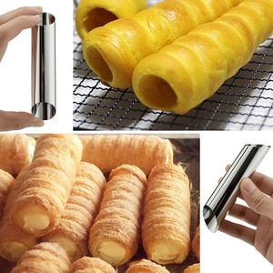 12pcs/Set Stainless Steel Tubes Shells Cream Cannoli Forms Cake Horn Mold Pastry Baking Mould Bakeware Sets