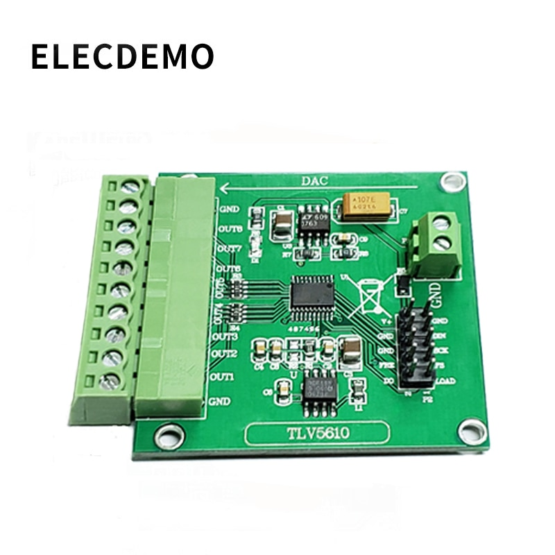 TLV5608 Module Octal Serial DAC Module TLV5610/TLV5608/TLV5629 Digital to Analog Conversion with Program ads1232 module 24 bit adc module high precision analog to digital conversion module ads1232ipw