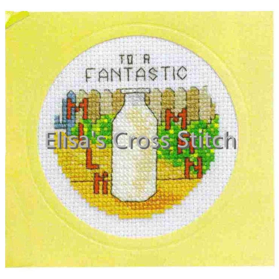Cd007 14ct kit de ponto cruz cartão pacote de cartão needlework bordados artesanato contados kits de costura cruzada presente de natal