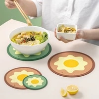 9 51520cm round heat resistant mat 2pcs household silicone anti scalding non slip mat table mat kitchen accessories