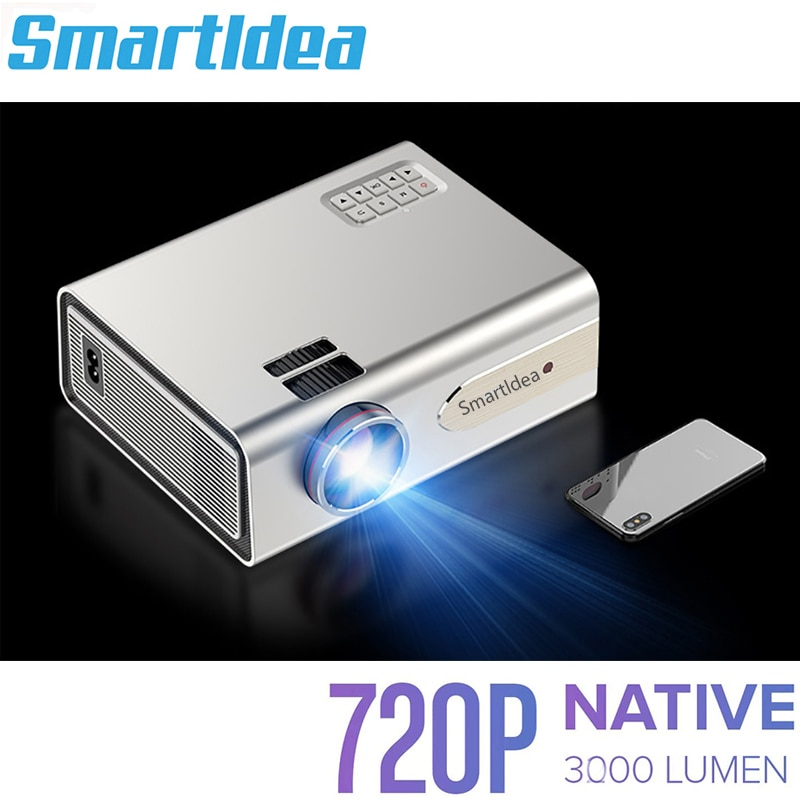 Smartldea-proyector led portátil 1920x720p, compatible con 1080P HD, USB, cine en casa,...