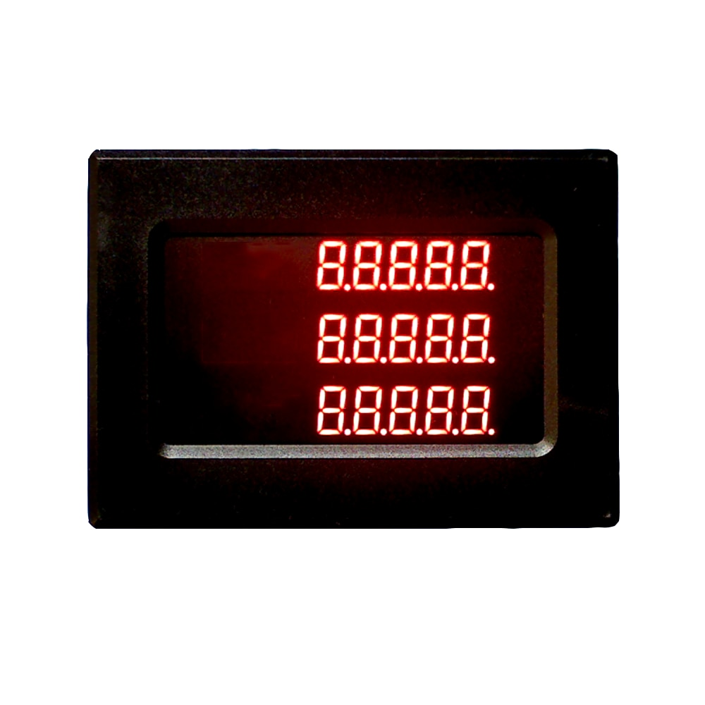 Taidacent تخصيص 3 صفوف 4 أرقام 5 أرقام 6 أرقام Modbus RS485 متر PLC الرقمية 7 الجزء المنفذ التسلسلي LED العرض