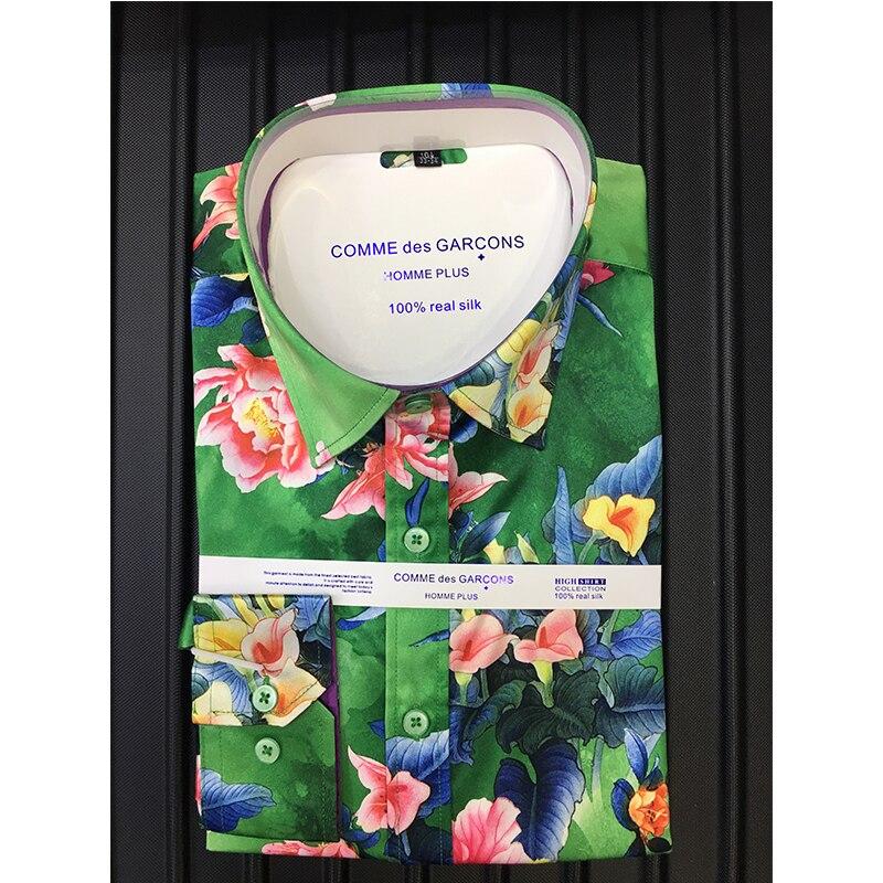 الرجال قميص الأزهار 2021 الربيع قميص غير رسمي موضة طويلة الأكمام طباعة سليم صالح عالية الجودة 3xl الذكور فستان قميص السفر قميص الرجال