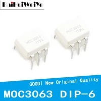 10pcslot moc3063 moc3063m dip 6 driver output optocoupler ic new original good quality chipset