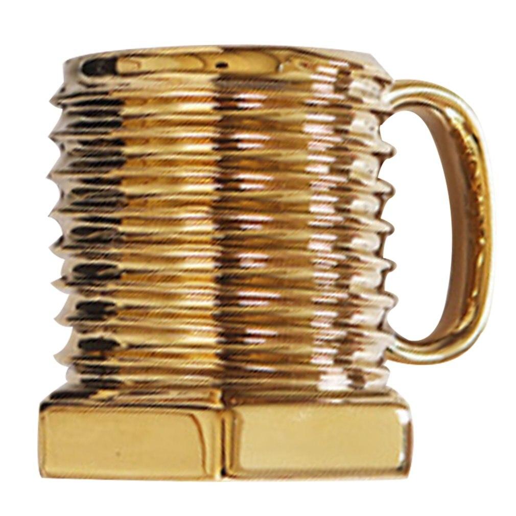 Screw Pattern Ceramic Cup Creative Gift Coffee Mug Cup Breakfast Cup Personality Matt Screwdriver Cup