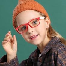 Kids Blue Light Blocking Glasses Fashion Square Glasses Clear Lens UV400 Computer Girl Boys Eye Prot