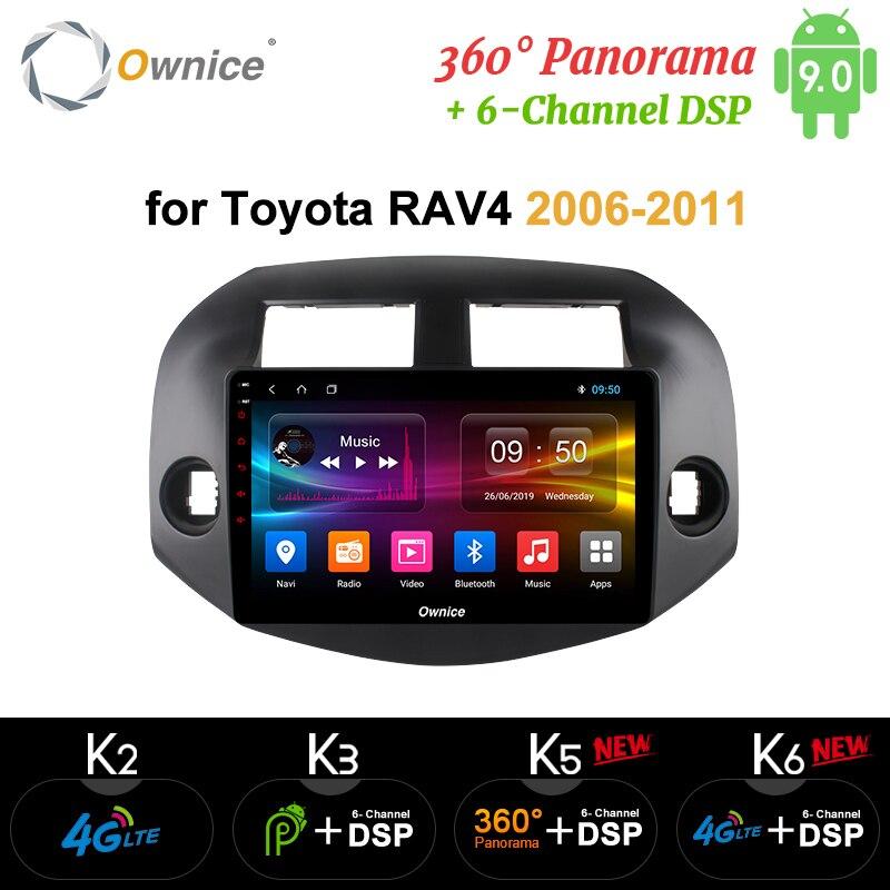 Ownice-lecteur dautoradio K3 K5 K6   Octa 8 Core, Android 9.0, pour Toyota Rav4 2007 2008 2009 2010, Radio GPS, DVD 4G LTE SPDIF DSP
